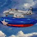 Lockheed T-33 Shooting Star 1948 Tee Bird by Blake Richards