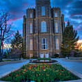 Logan Utah Temple Evening Portrait by Adam Jewell