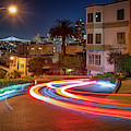 Lombard Street And The Bay Bridge by Kristen Wilkinson