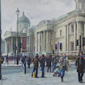 London National Gallery In The Winter by Martin Davey