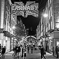 London Nightlife Carnaby Street London Uk United Kingdom Black And White by Toby McGuire