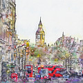 London Street 1 by Jennifer Berdy