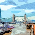 London Tower Bridge Raised by Nigel Dudson