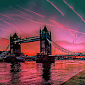 London Tower Bridge Sunrise Pano by Nigel Dudson