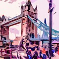 London Tower Bridge With The Dancing Angels. by Nigel Dudson