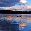 Lone Dock At Dusk by Lynda Lehmann