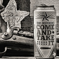 Lone Star Beer Come And Take It Black And White by JC Findley