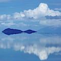 Lonely Island Salar De Uyuni Bolivia by James Brunker