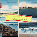 Long Beach Island Greetings - Version 3 by Mark Miller