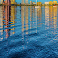 Long Reflections Of Downtown West Palm Beach by Debra and Dave Vanderlaan