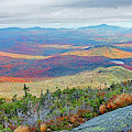 Long Shadows In The Valley Autumn Foliage Upstate Ny New York From Wright Mountain Adirondacks by Toby McGuire