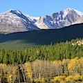Longs Peak In The Fall by Deb Cawley