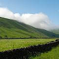 looking down Ettrick valley in Selkirkshire in summer by Victor Lord Denovan