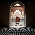 Looking Into Courtyard Of Medersa El by Ian Cumming