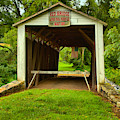 Looking Through The Red Covered Bridge by Adam Jewell