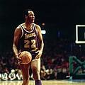 Los Angeles Lakers Vs. Milwaukee Bucks by Vernon Biever
