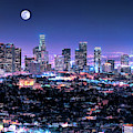 Los Angeles Skyline At Night by Christopher Arndt