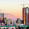 Los Angeles Skyline Sunset - Panorama by Gene Parks
