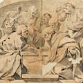 Los Apostoles Ante El Sepulcro Vacio De La Virgen  by Anonimo