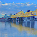 Louisville Skyline And Bridge Reflection by Dan Sproul