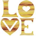 Love Sign Soft Beige Watercolor Silhouette Letters Hearts  by Irina Sztukowski