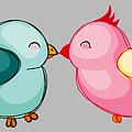 Lovebirds - Digital Art by Ericamaxine Price