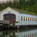 Lowell Bridge In Christmas Dress by Matthew Irvin