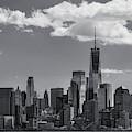 Lower Manhattan Nyc Skyline Ir  by Susan Candelario