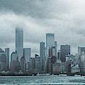 Lower Manhattan Panorama by Judy Hall-Folde