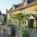 Lower Slaughter Cottages In The Evening Summer Sunlight by Tim Gainey