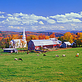 Lush Autumn Countryside In Vermont With by Ron thomas