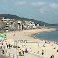Lyme Regis Beach by John Edwards