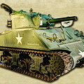 M4 Sherman Tank 2 Canvas by Weston Westmoreland