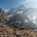 Machhapuchhare Base Camp In Nepal by Didier Marti