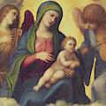 Madonna And Child And Child In Glory, Circa 1520 by Correggio