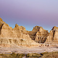 magenta Dawn in the Badlands  by Jim Thompson