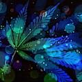 Magical Marijuana Leaf Abstract  by Scott Wallace Digital Designs