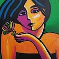Maiden With Flower by Stuart Glazer