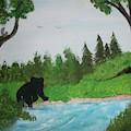 Maine Black Bear by Sally Bell