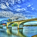 Majestic Arches Chief John Ross Bridge Spanning The Tennessee River Art by Reid Callaway