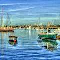Majestic Newport Harbor Newport Bay Harbor Southern California Art by Reid Callaway