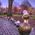 Make Way For Ducklings - Boston Winter by Joann Vitali