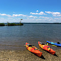 Mallows Bay And Kayaks by Lora J Wilson