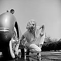 Mamie Van Doren Washing The Whitewall by Loomis Dean