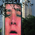 Man Face Crown Fountain Chicago by Marilyn Hunt