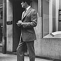 Man Modeling Executive Fashion.  Photo by Nina Leen