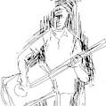 Man On Guitar by Mustafa Attari