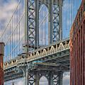 Manhattan Bridge And The Empire State Building by Kristen Wilkinson