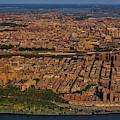 Manhattan Bronx Nyc Aerial by Susan Candelario