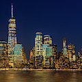 Manhattan Nyc Skyline Twilight by Susan Candelario